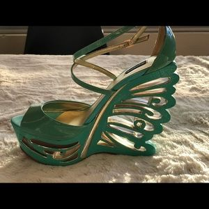 Pleasure shoe Turquoise Wedges platform